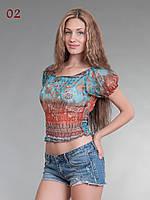 Топ женские шифон голубой, фото 1