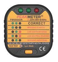PM8908C+PM6860DR, комплект: детектор напряжения + тестер УЗО, фото 2