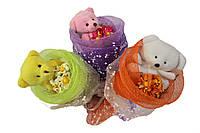 Букет из игрушек Конфетка разные цвета