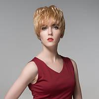 Короткая сторона полный взрыва реальный виргинские человеческие волосы парик монолитным Remy моно топ 12 цветов - 1TopShop