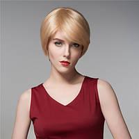 Холодные женщины человеческие волосы Remy девственницы парик короткий моно верхняя сторона челки прямые 14 COLOS - 1TopShop