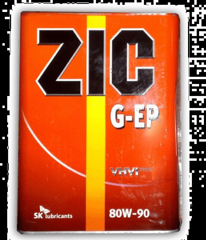 Трансмиссионное масло ZIC G-EP GL-4 80w90 4л