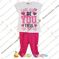 Летний костюм для девочки от 5 до 9 лет (3390)