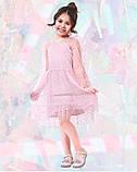 Платье с фатином, розовое (8003), фото 2