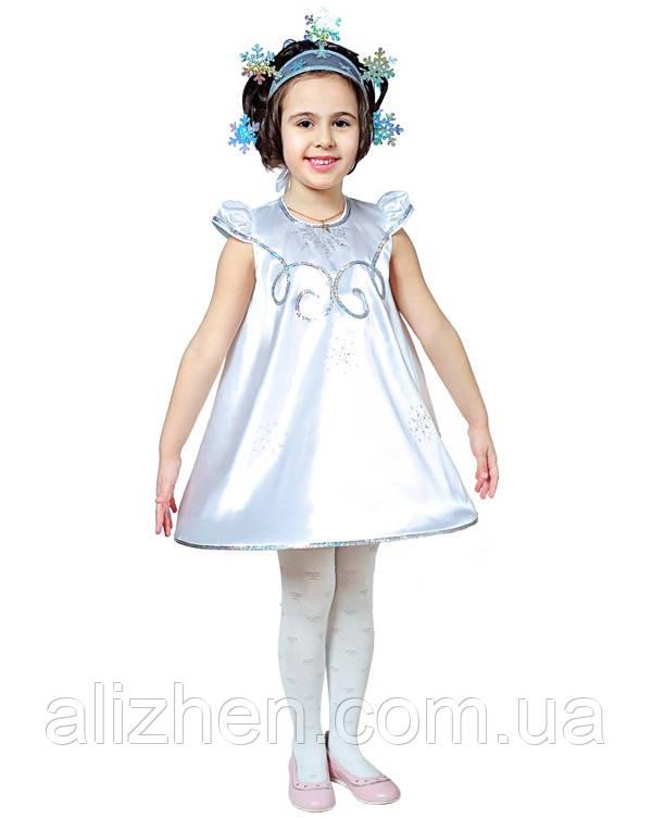 Снежинка. Комплект - платье, головной убор (9116)