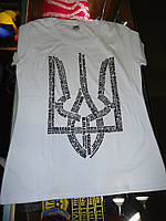 Белая футболка с трезубцем (города Украины)