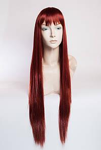 Длинный ровный парик №3, цвет огненно медный