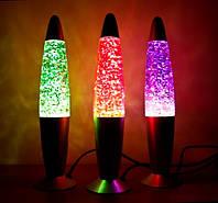 Лава лампа с блестками 35см, фото 1
