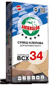 Клеящая смесь ANSERGLOB BCX 34 для керамогранита, фото 2