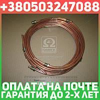 ⭐⭐⭐⭐⭐ Трубка тормозная ГАЗ 3307 (медь, 7-и трубочный к-кт,D трубки=6мм) (пр-во Украина)