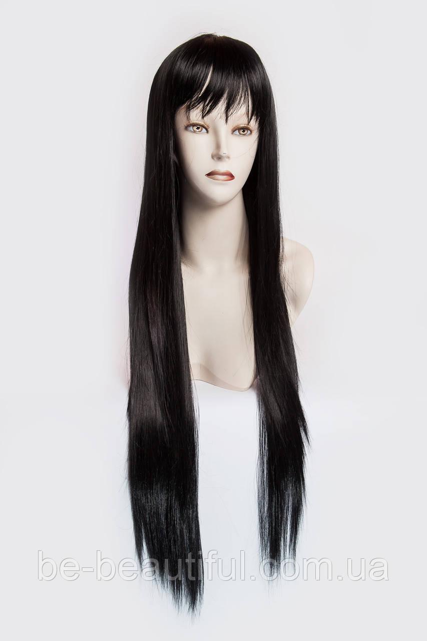 Длинный ровный парик №3, цвет черный