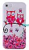 Силиконовый чехол совами для iphone 5/5S