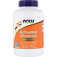 Активированный уголь, Activated Charcoal, Now Foods, 200 кап.