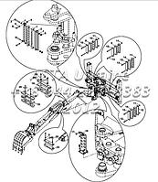 Держатель шланга комплект, гидравлический, НБ, экскаватор-Е1-5-1-ОР1