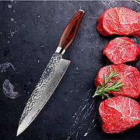 FINDKINGДамаскНержавеющаястальНожКлинок Цветная ручка Каменная форма 8-дюймовый шеф-повар Damascus Knife  1TopShop
