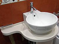 Умывальный столик для ванной комнаты из искусственного камня