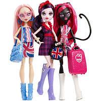 Набор кукол Monster High «Монстро-знаменитости в Лондоне!» (Элизабет, Кэтти Нуар, Вайперин Горгон)
