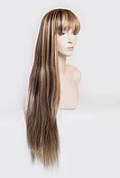 Длинный ровный парик №3,цвет мелирование светло-русый с золотым и блондом