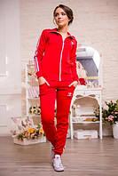 Женский костюм Adidas красный