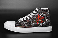 Кеды Rock Shoes Anarchy - Punk's Not Dead (36-39), Размер (Rock Shoes) 36 (23,5 см)