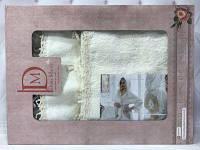 Подарочный набор халат+2 полотенца Miss Bella 11 Белый