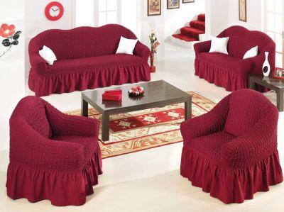 Чехол на диван+2 кресла Golden Люкс бордо