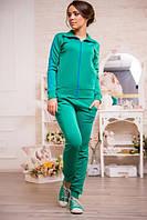 Женский костюм Adidas зеленый