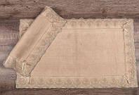 Набор ковриков для ванны с кружевом Maco berra bej