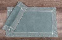 Набор ковриков для ванны с кружевом Maco berra yesil