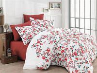 Комплект постельного белья сатин Cottonland Begonia kiremit