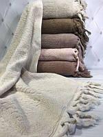 Набор хлопковых полотенец с кисточками лицевые Sikel 50х90 sezar