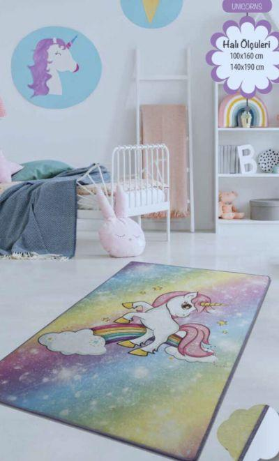 Ковер детский безворсовый Chilai Home 100 х 160 см., Unicorns