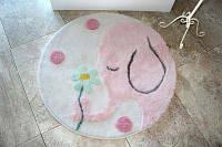 Коврик в детскую комнату круглый ALESSIA buyuk fil yuvarlak pembe (Слоник розовый)