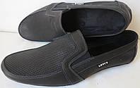 Levis жесть! Качественные летние  мужские в стиле Левис мокасины туфли обувь кожаные с перфорацией, фото 1