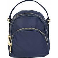 Сумка-рюкзак женская №02033 сатен Синий
