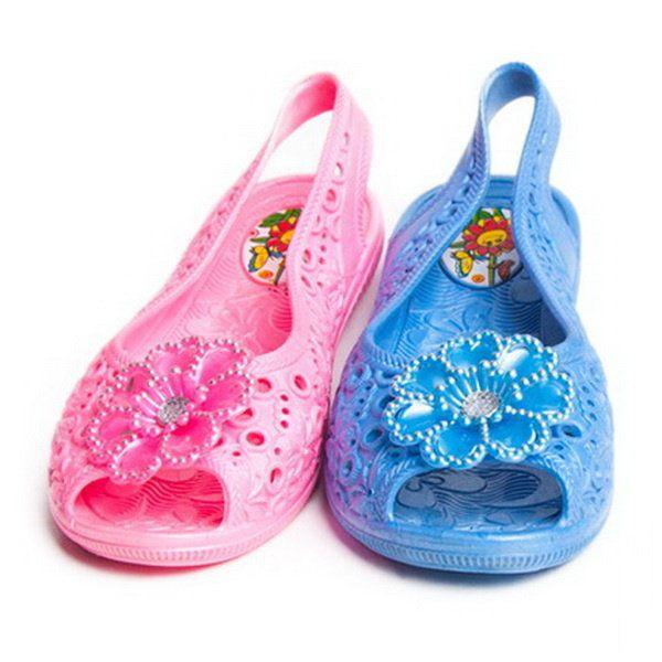 f418d0216 Силиконовые прозрачные детские балетки, 30-35 размер. Детская летняя обувь  оптом