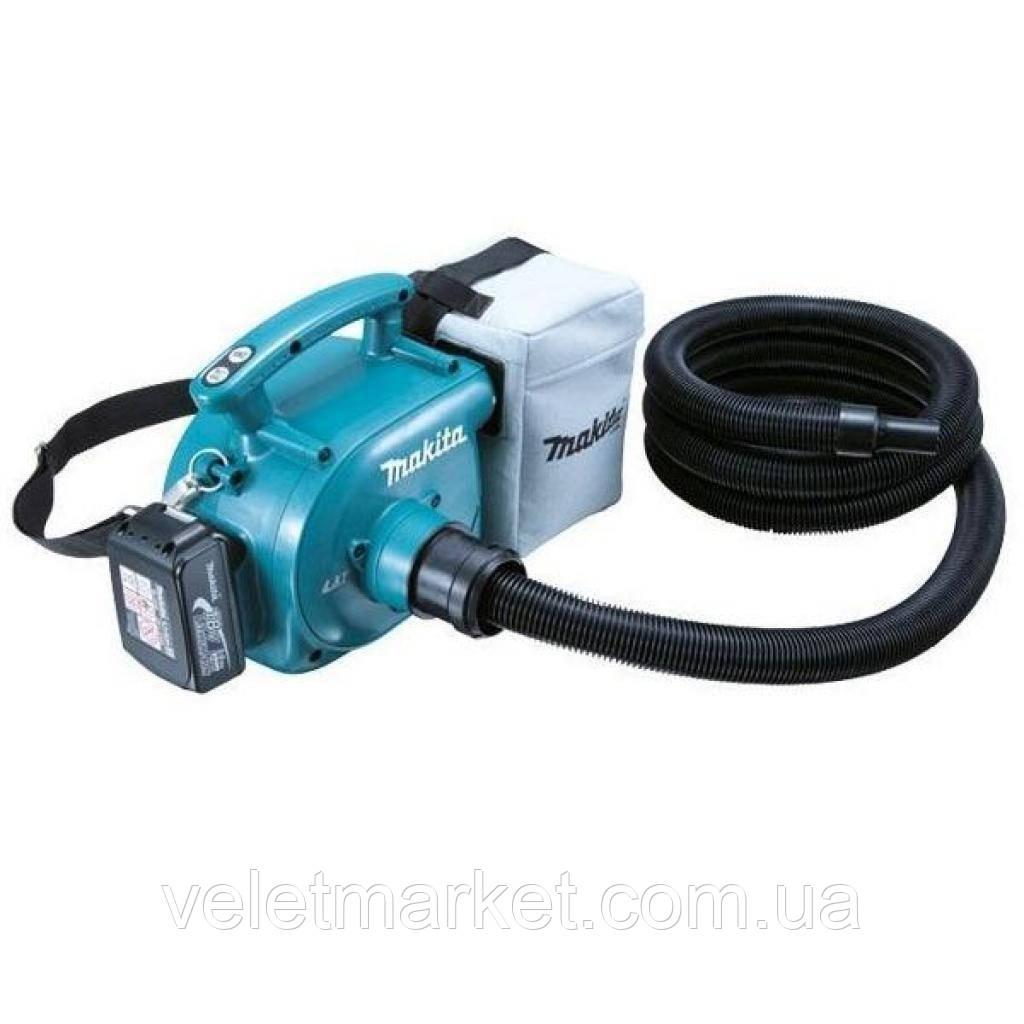 Пылесос строительный Makita аккумуляторный LXT, 18В, 54Вт, 3л (DVC350Z)
