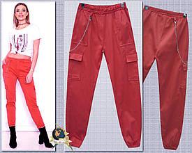 Джинсы женские летние с боковыми карманами пояс и низ на резинке