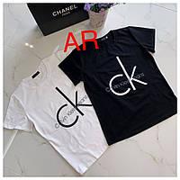 """Женская стильная футболка в стиле """"CK"""" (2 цвета)"""