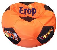 Кресло мяч детское с именем Хот Вилс
