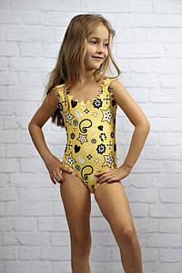 Детский слитный купальник с принтом. КУ-3-0419