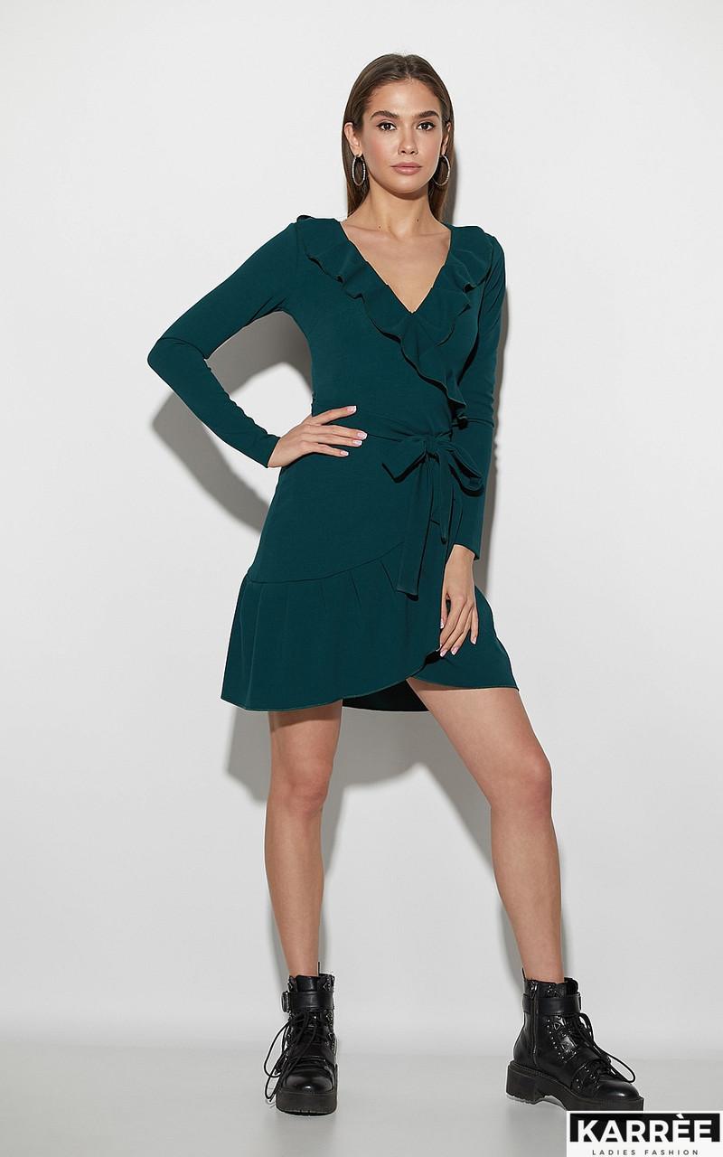 7372c96f19f221d Женское платье на запах Акура зеленое - Магазин RNM - піротехніка вроздріб  і гурт, стильний