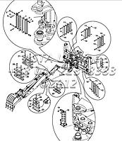 Держатель шланга комплект, гидравлический, ТБ+КТ, экскаватор-Е1-5-1-ОП4, фото 1