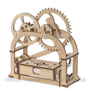Конструктор механический 3d Визитница Шкатулка из дерева