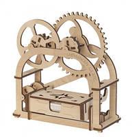 Конструктор механический 3d Визитница Шкатулка из дерева, фото 1