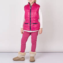 Куртки жилет двухсоронний жилет удлиненный с капюшоном от дождя дев. малиновый с синим 100% полиэестер 133bgar