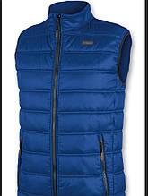 Куртки жилет застежка и карманы на молнии мал. ярко-синяя 100 % п/э JH48 BRUGI, Италия