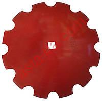 Диск  ромашка бороны Gregoire Besson, D-660мм, квадрат 41мм, толщина 6мм, DI.RU XM6-1903-26MC41.
