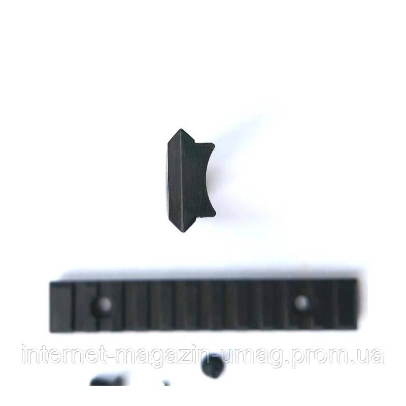 Планка Weaver  125 мм стальная закругленная