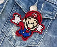 """(5шт) Термоаппликация, нашивка на одежду 7 х 6,5 см """"Марио"""" Цена за 5шт"""